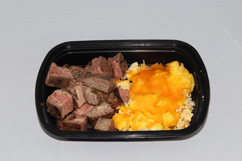 Steak and Cheesy Eggs