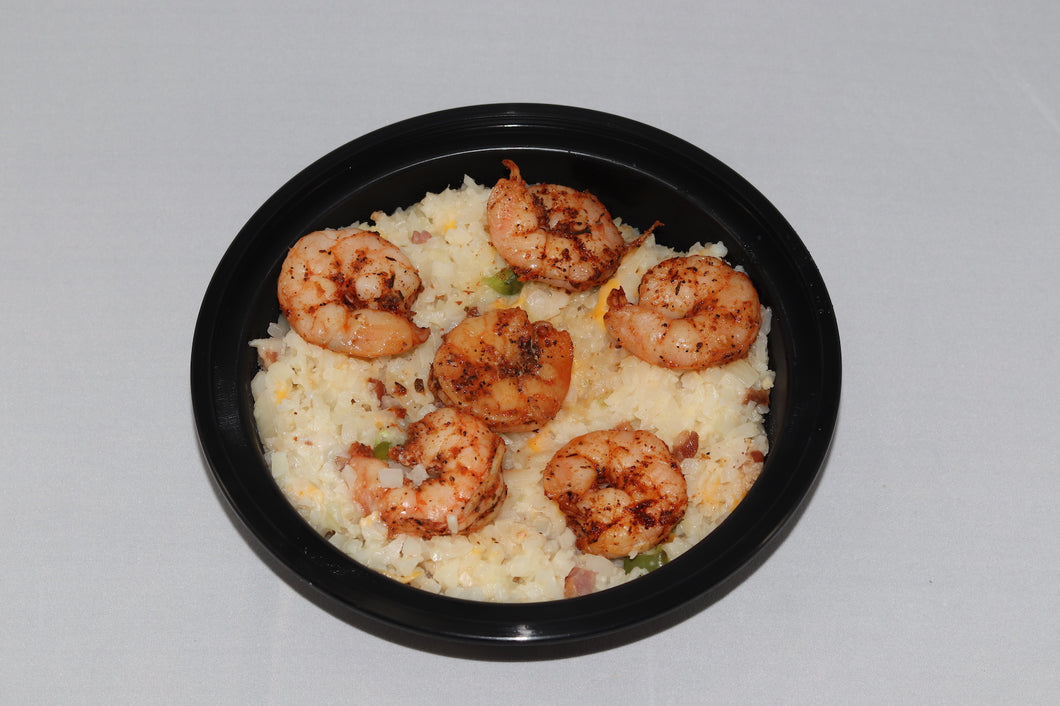Shrimp and Cheesy Cauliflower
