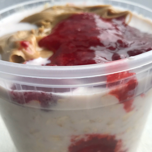"""NEW"" PB&J Overnight Oats Quart Meal"