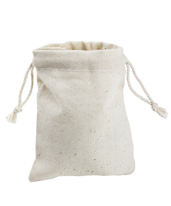 Cotton Drawstring Bags - 5 x 7 inches