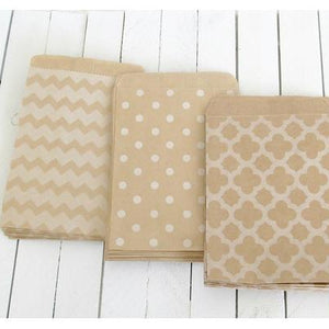 Kraft Paper Bags - Chevron-Paper Bags-Cute Boxes and Bags
