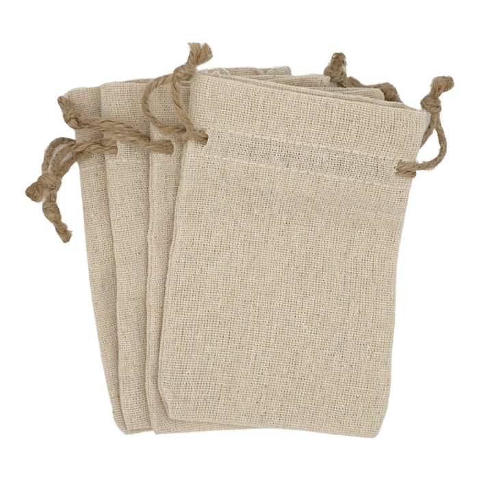 Linen Drawstring Bags - 4 x 6 inches