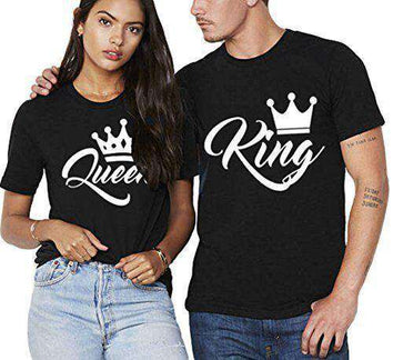T shirt couple King and Queen