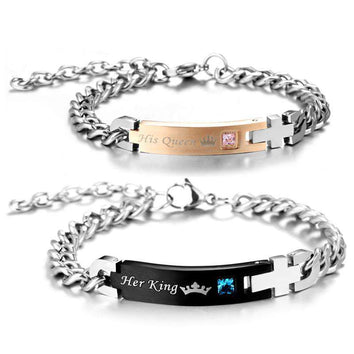 Plusieurs Bracelets chaine King and Queen