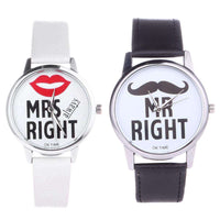"Montres couple ""Mrs et Mr Right"""