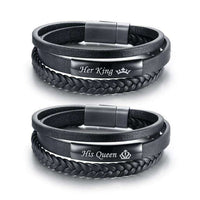 Bracelets Original Cuire King et Queen