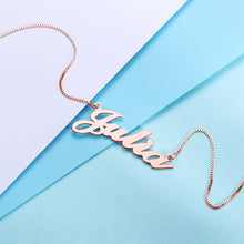 Load image into Gallery viewer, Classic Nameplate Necklace - Darlings Jewelry | Express Yourself Through Bling!