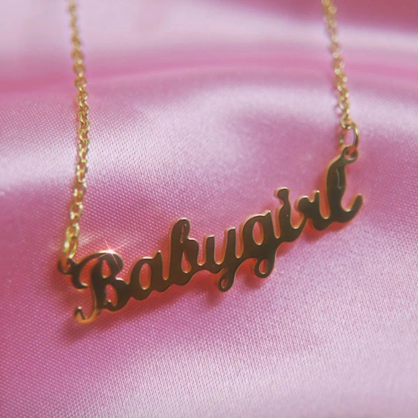Classic Babygirl Necklace - Darlings Jewelry | Express Yourself Through Bling!