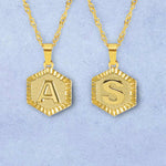 Roman Letter Pendant Necklace - Darlings Jewelry | Express Yourself Through Bling!