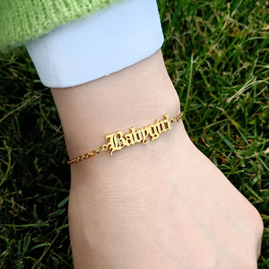 Old English Nameplate Bracelet - Darlings Jewelry | Express Yourself Through Bling!