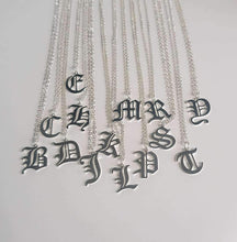 Load image into Gallery viewer, Old English Letter Necklace - Darlings Jewelry | Express Yourself Through Bling!