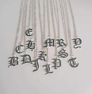 Old English Letter Necklace - Darlings Jewelry | Express Yourself Through Bling!