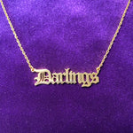 Old English Nameplate Necklace - Darlings Jewelry