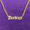 Old English Nameplate Necklace with Curb Chain - Darlings Jewelry | Express Yourself Through Bling!