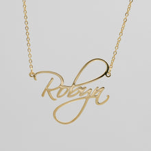 Load image into Gallery viewer, Angel Script Nameplate Necklace - Darlings Jewelry | Express Yourself Through Bling!