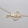 Angel Script Nameplate Necklace - Darlings Jewelry | Express Yourself Through Bling!