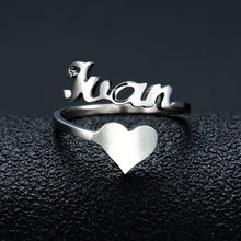 Load image into Gallery viewer, Classic Nameplate Heart Ring - Darlings Jewelry | Express Yourself Through Bling!