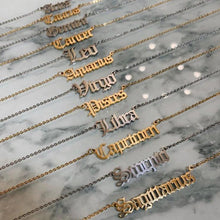 Load image into Gallery viewer, Old English Star Sign Necklace - Darlings Jewelry | Express Yourself Through Bling!