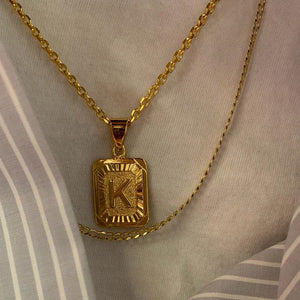 Boxy Letter Pendant Necklace - Darlings Jewelry | Express Yourself Through Bling!