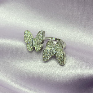Double Butterfly Ring - Darlings Jewelry | Express Yourself Through Bling!