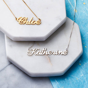 Classic Nameplate Necklace - Darlings Jewelry | Express Yourself Through Bling!