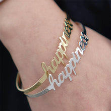 Load image into Gallery viewer, Classic Nameplate Bangle - Darlings Jewelry | Express Yourself Through Bling!