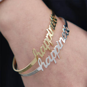 Classic Nameplate Bangle - Darlings Jewelry | Express Yourself Through Bling!