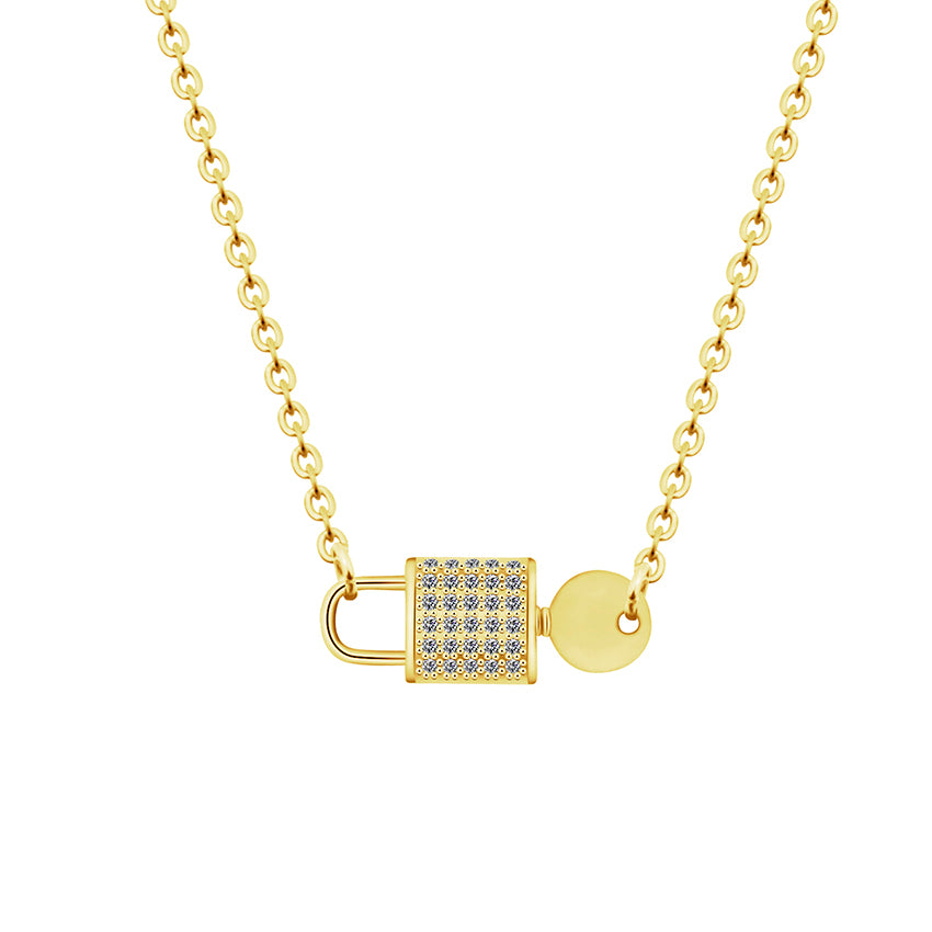 Lock and Key Necklace - Darlings Jewelry | Express Yourself Through Bling!
