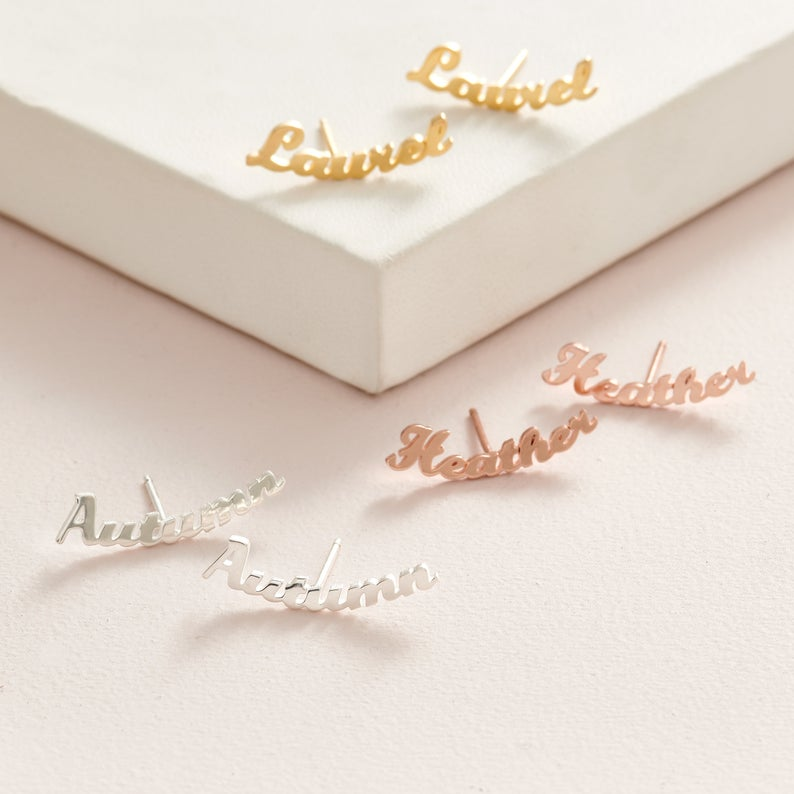 Classic Nameplate Earrings - Darlings Jewelry