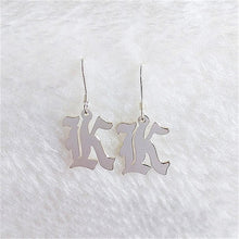 Load image into Gallery viewer, Old English Letter Earrings - Darlings Jewelry | Express Yourself Through Bling!