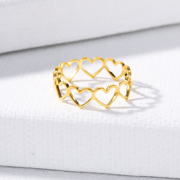 Hollowed Heart Ring - Darlings Jewelry | Express Yourself Through Bling!