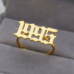 Old English Yearplate Ring - Darlings Jewelry | Express Yourself Through Bling!