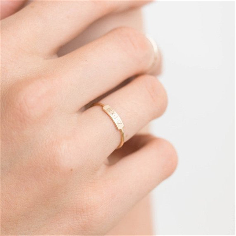 Engraved Stackable Ring - Darlings Jewelry | Express Yourself Through Bling!