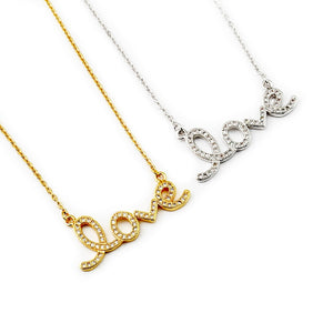 Love Necklace - Iced - Darlings Jewelry | Express Yourself Through Bling!