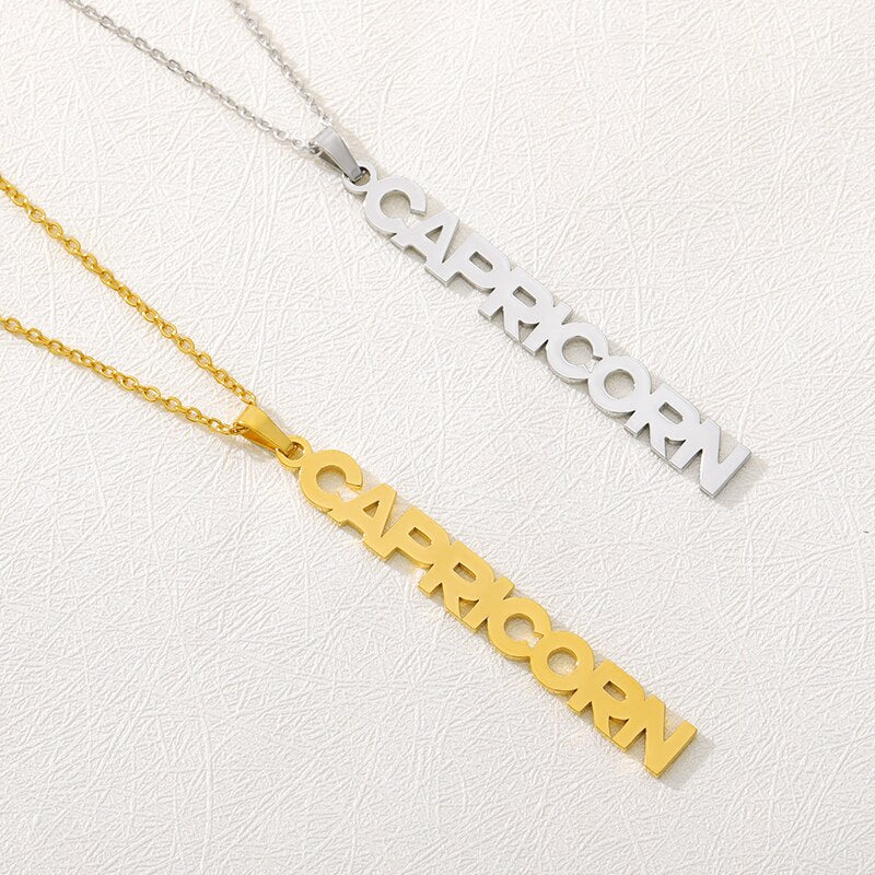 Vertical Star Sign Necklace - Darlings Jewelry | Express Yourself Through Bling!