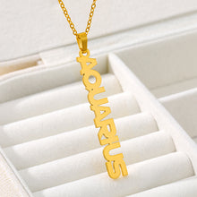 Load image into Gallery viewer, Vertical Star Sign Necklace - Darlings Jewelry | Express Yourself Through Bling!