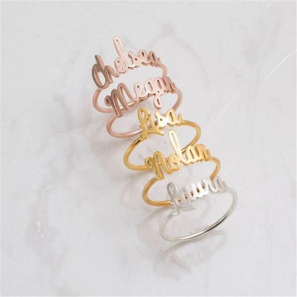 Dainty Classic Nameplate Ring - Darlings Jewelry | Express Yourself Through Bling!
