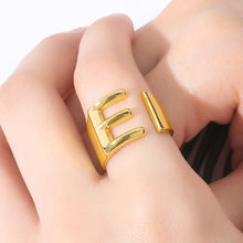 Load image into Gallery viewer, Open Spiral Letter Ring - Darlings Jewelry | Express Yourself Through Bling!