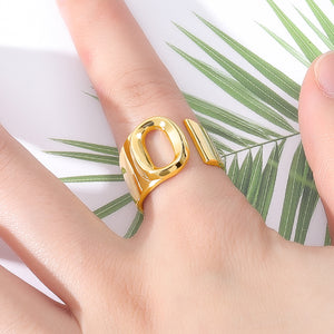 Open Spiral Letter Ring - Darlings Jewelry | Express Yourself Through Bling!