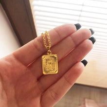 Load image into Gallery viewer, Boxy Letter Pendant Necklace - Darlings Jewelry | Express Yourself Through Bling!
