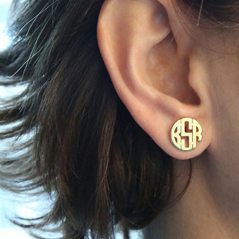 Pressed Monogram Earrings - Darlings Jewelry | Express Yourself Through Bling!