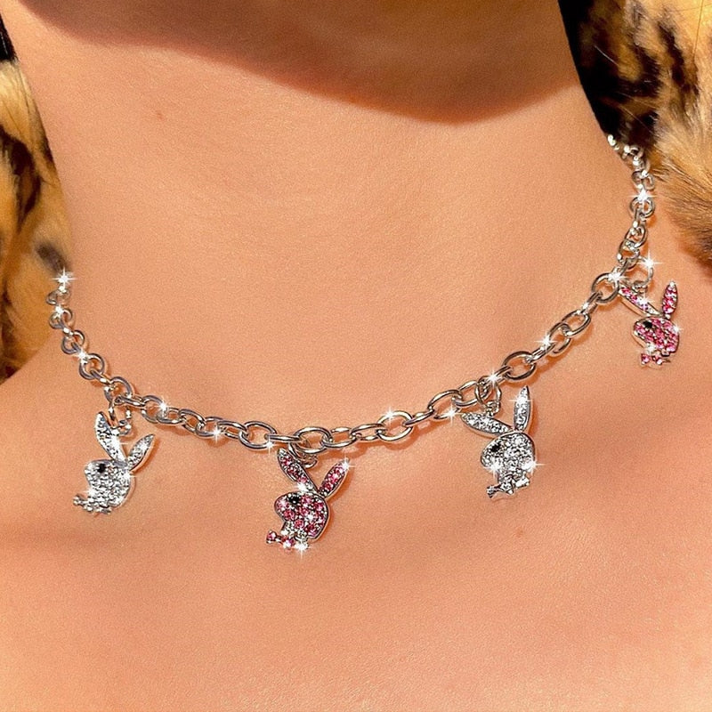 Playboy Bunny Necklace - Darlings Jewelry | Express Yourself Through Bling!