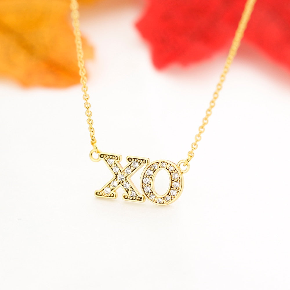 XO Necklace - Iced - Darlings Jewelry | Express Yourself Through Bling!