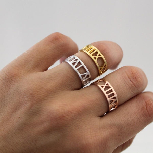 Roman Numerals Ring - Darlings Jewelry | Express Yourself Through Bling!