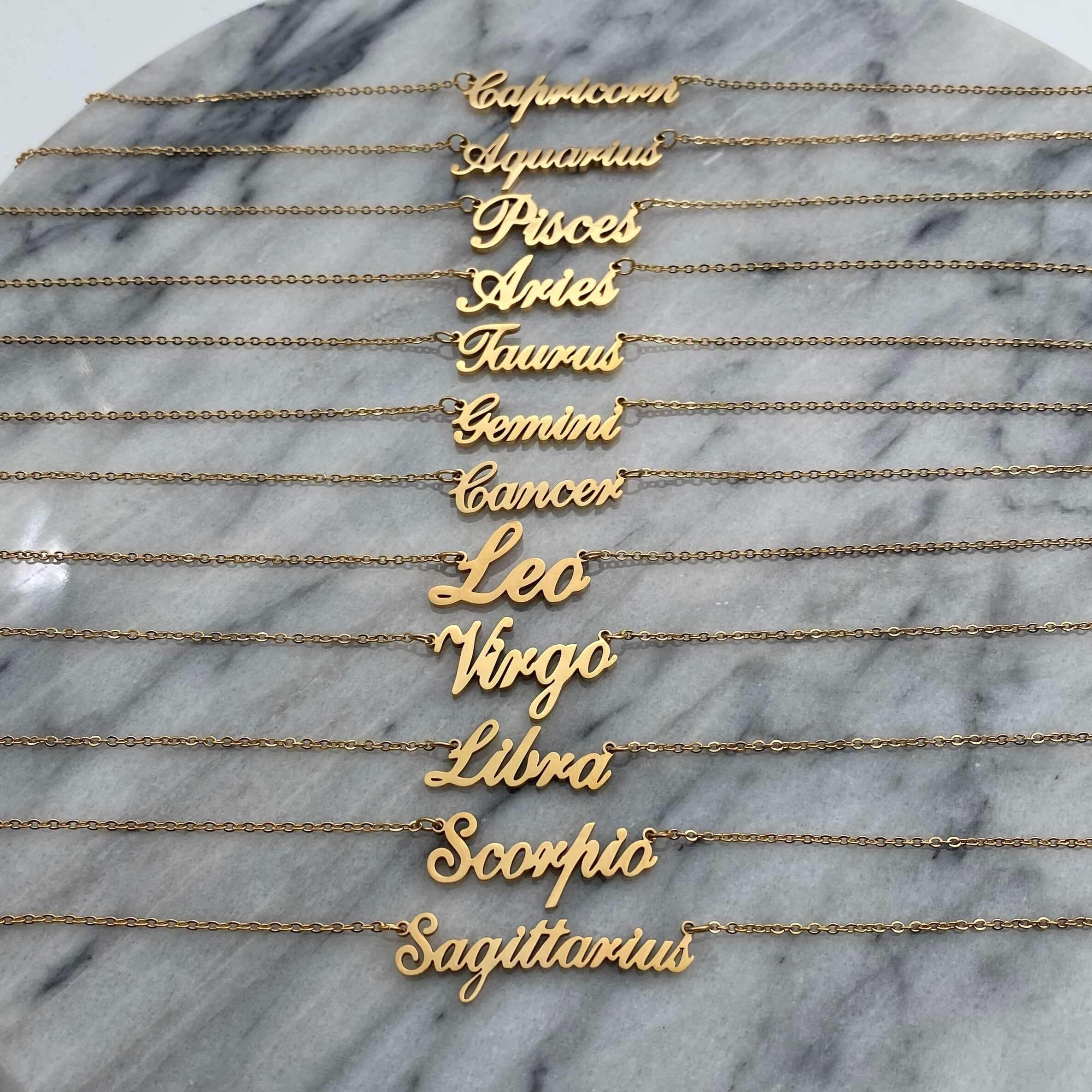 Classic Star Sign Necklace - Darlings Jewelry | Express Yourself Through Bling!