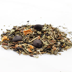 mint chocolate green tea  loose leaf