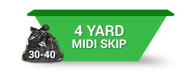 4 Yard Skip - Order Online Save 5% 2 weeks hire