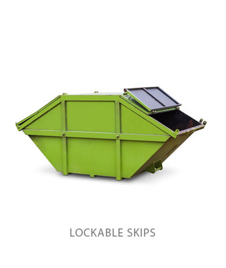 8 Yard Lockable Enclosed Skip