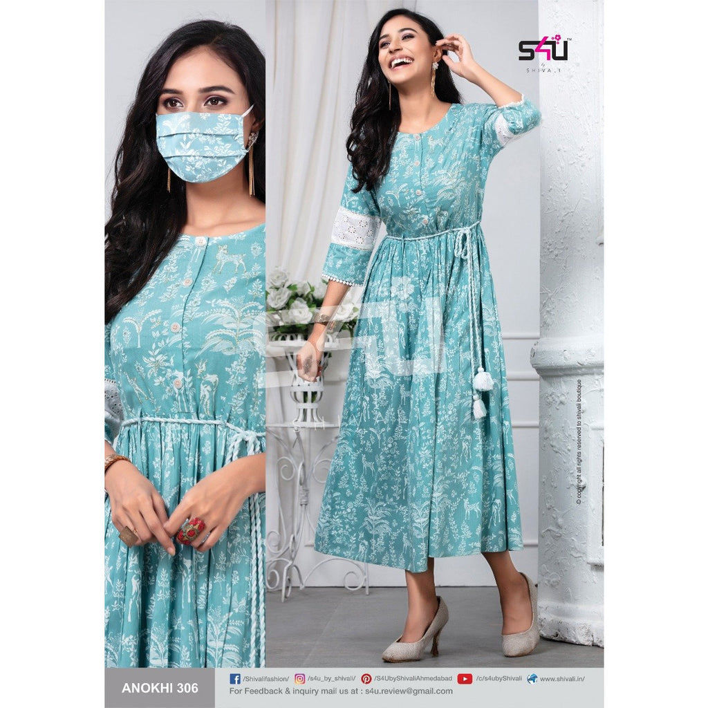 Siya Fashion Sky Blue Color Fancy Party Wear Ankle Length Gown