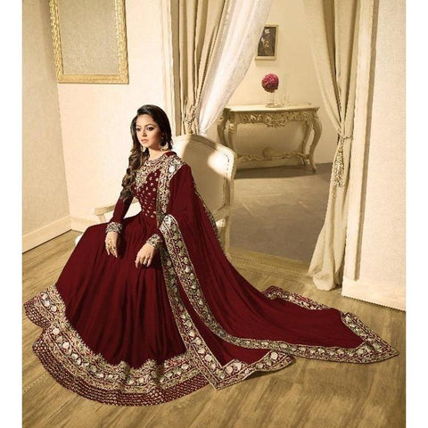 Siya Fashion Beautiful Beige Color Party Wear Anarkali Suit